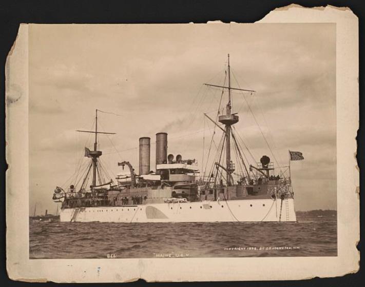 USSMaine-HavanaHarbor-1898-LR